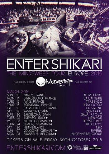 ENTER SHIKARI mit MODESTEP auf Tour im März 2016