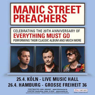 MANIC STREET PREACHERS für 2 Gigs in Köln und Hamburg 2016