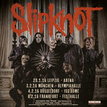 SLIPKNOT kommen 2016 für 4 Termine nach Deutschland