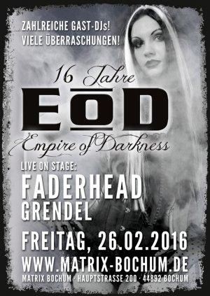 16 Jahre EoD - Empire of Darkness feiert am 26.02.2016 in der Matrix Bochum