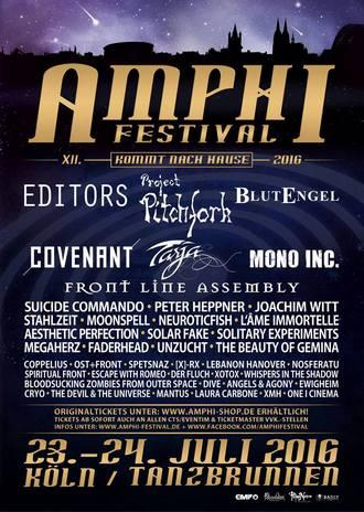 AMPHI FESTIVAL mit EDITORS und Co. 2016 wieder am Tanzbrunnen