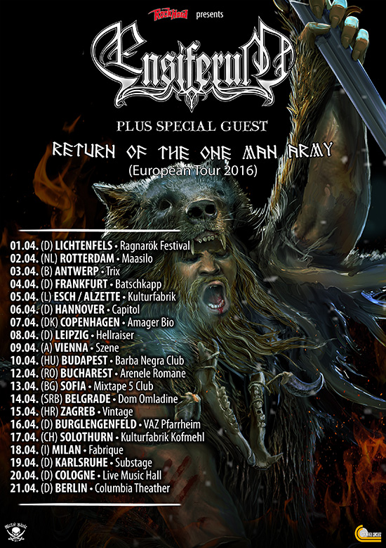ENSIFERUM auf Tour im April 2016