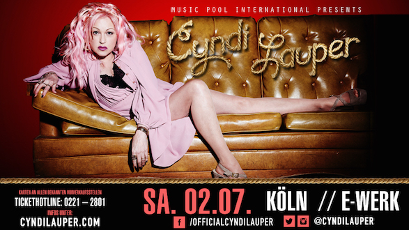CYNDI LAUPER kommt für exklusives Konzert 2016 nach Köln