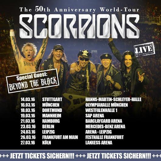 Die SCORPIONS gehen auf 50th-Anniversary Tour
