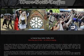 Neue Bands beim Wave-Gotik-Treffen 2016 (WGT) und Website nun auch auf Französich