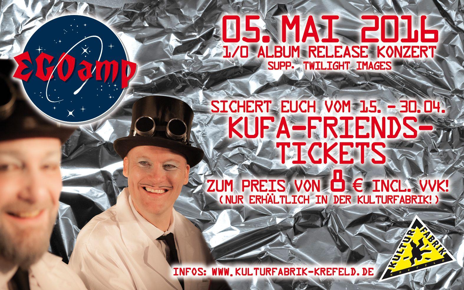 EGOamp Album-Release-Konzert in der Kulturfabrik Krefeld