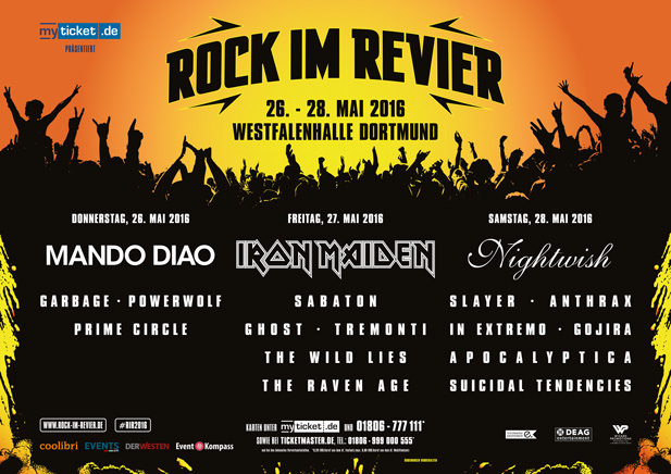 ROCK IM REVIER 2016 - Festivalknaller mit IRON MAIDEN