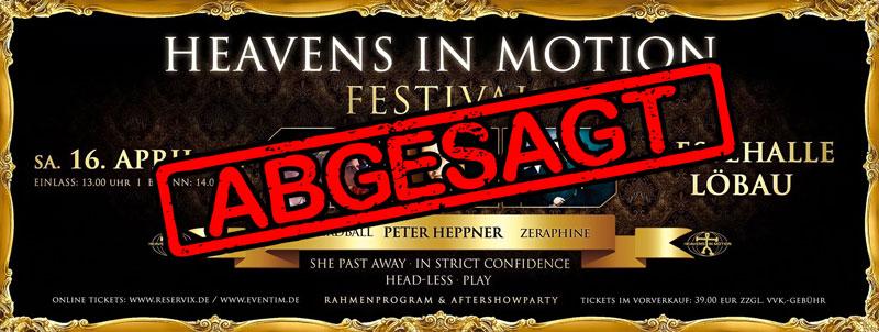 Heavens in Motion - Festival 2016 wird ersatzlos abgesagt