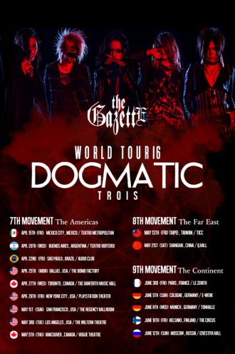 The GazettE World Tour 2016