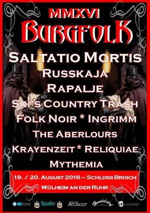 Das BURGFOLK MMXVI Festival findet am 19.  und 20.08.2016 statt