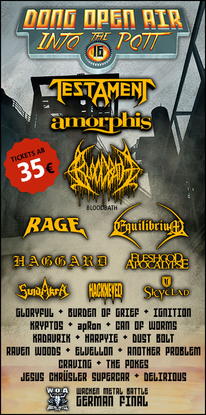 Dong Open Air 2016 - Metal-Festival in Neukirchen-Vluyn