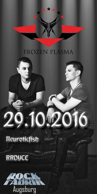 ALLES SCHWARZ! - FESTIVAL MIT FROZEN PLASMA, NEUROTICFISH UND RROYCE – AUGSBURG, ROCKFABRIK (29.10.2016)