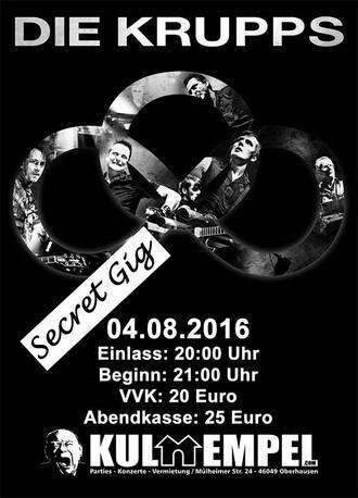 Die Krupps - Secret Gig in Oberhausen am 04.08.2016