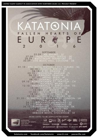 KATATONIA gehen im September auf The Fall Of Hearts Tour 2016