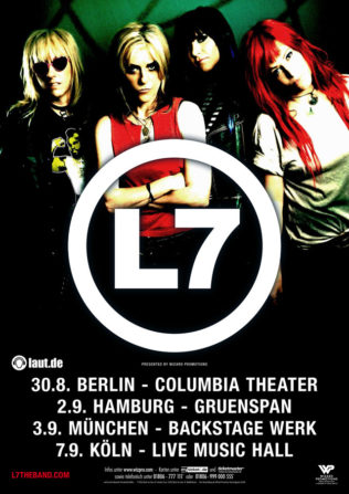 L7 auf Deutschlandtour 2016 - Vorreiter des weiblichen Rocks melden sich zurück