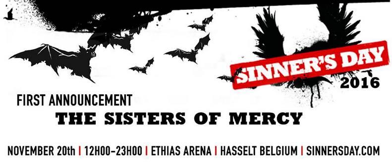 SINNER'S DAY FESTIVAL meldet sich zurück - THE SISTERS OF MERCY bestätigt!
