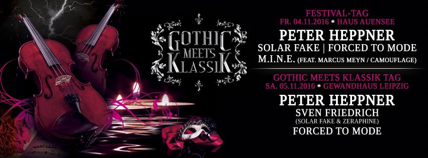 GOTHIC MEETS KLASSIK am 4. und 5. November 2016 in Leipzig