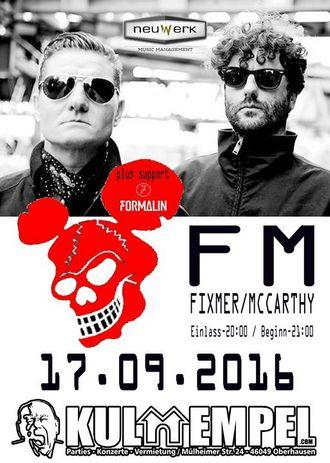 FIXMER/MCCARTHY kommen für feinen Clubgig in den Kulttempel Oberhausen