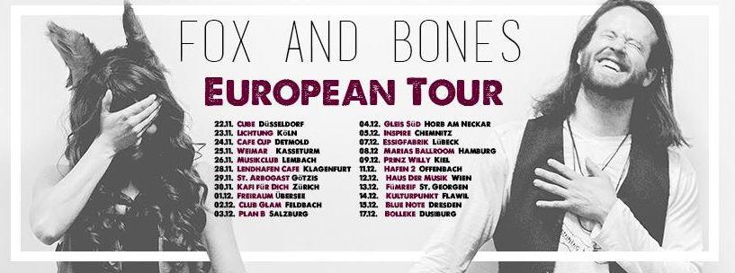Monkeypress präsentiert: FOX AND BONES auf Europatour 2016