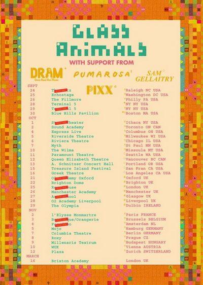 GLASS ANIMALS auf Europatour in Hamburg und Berlin