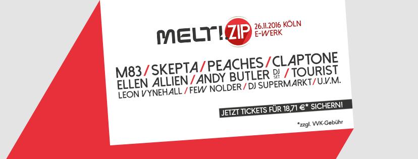 [beendet] Tickets gewinnen: MELT!.ZIP in Köln mit M83, PEACHES uvm.