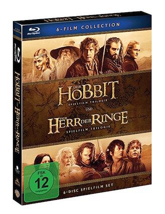 DER HOBBIT & DER HERR DER RINGE - Mittelerde Collection (6-Blurays)