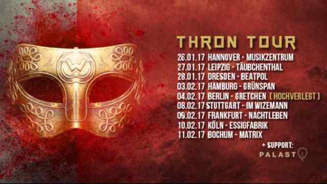 JOACHIM WITT auf Thron Tour 2017