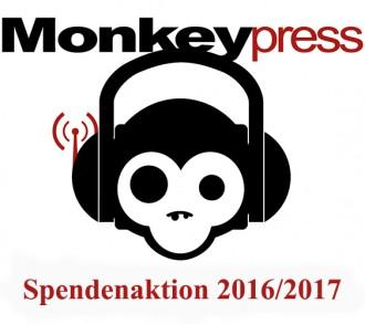 Monkeypress Spendenaktion 2016