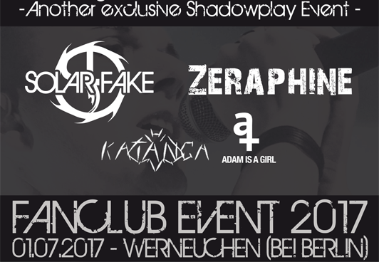 Exklusives Fanclub-Konzert mit SOLAR FAKE & ZERAPHINE