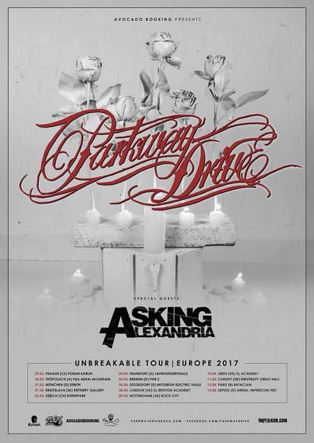 PARKWAY DRIVE kommen mit ASKING ALEXANDRIA am 06.04.2017 neben den Impericon Festivals live nach Düsseldorf
