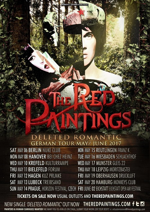 [beendet] Verlosung - Monkeypress.de präsentiert: THE RED PAINTINGS Tour 2017