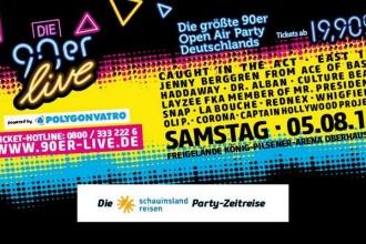 DIE 90ER kommen nach Oberhausen - Live am 05. August 2017