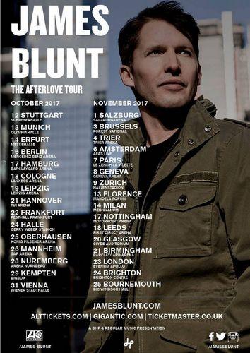 JAMES BLUNT Blunt macht im Oktober Halt in Deutschland