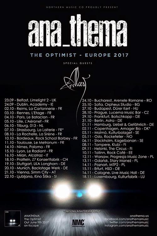 ANATHEMA mit ALCEST auf Tour ab Mitte Oktober 2017