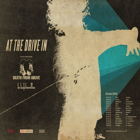 AT THE DRIVE-IN und DEATH FROM ABOVE gemeinsam auf Tour 2018