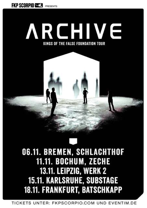 ARCHIVE touren auch 2017 wieder europaweit