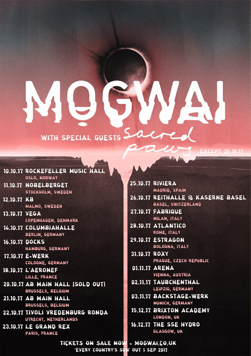 MOGWAI touren durch Europa