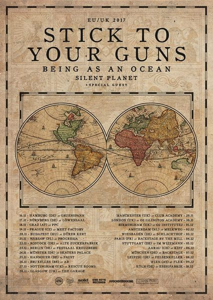 STICK TO YOUR GUNS - Hardcore-Punk's Not Dead... und kommt auf Tour 2017