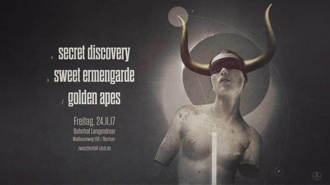 Betreff: Schwarz-bunter Abend mit SWEET ERMENDARDE, GOLDEN APES und SECRET DISCOVERY