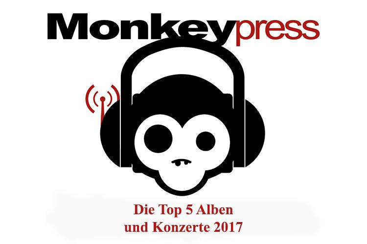 Die persönlichen Top 5 Alben & Konzerte 2017 des Monkeypress.de-Teams