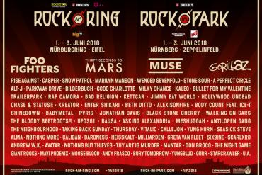 Dritte Bandwelle für Rock am Ring und Rock im Park