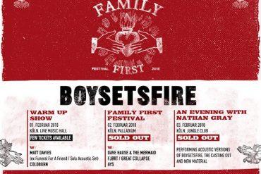 Nichts geht über die Familie: BOYSETSFIRE laden zum Family First Festival 2018