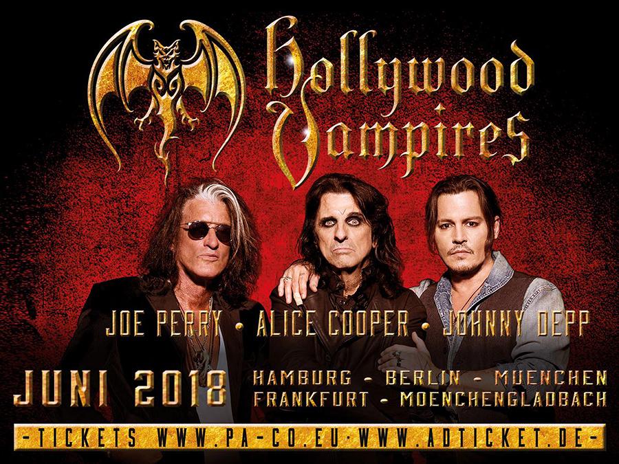 THE HOLLYWOOD VAMPIRES, drei lebende Legenden auf Tour!