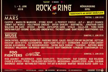 ROCK AM RING gibt Running Order bekannt - Auch Tagestickets verfügbar