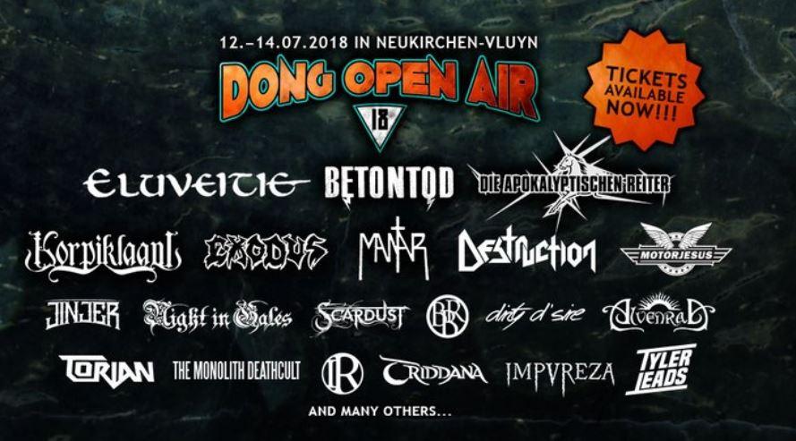 Alle Infos zum DONG OPEN AIR 2018 in Neukirchen-Vluyn (12.-14.7.2018)