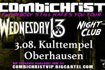 Monkeypress.de präsentiert: COMBICHRIST live in Oberhausen 2018 im Rahmen ihrer großen Sommer-Tournee