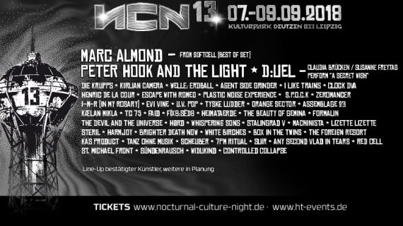 13. NOCTURNAL CULTURE NIGHT - 07.09.- 09.09.2018, Kulturpark Deutzen bei Leipzig