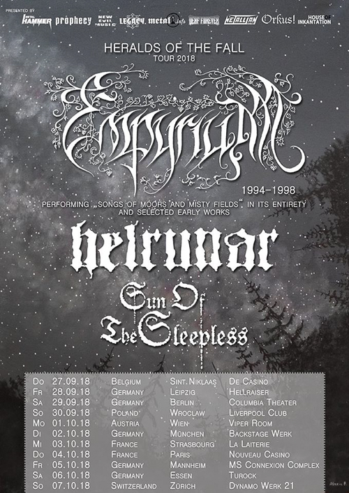 EMPYRIUM, HELRUNAR, SUN OF THE SLEEPLESS – Weises Schwarzmetall auf Europa-Tour