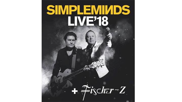 SIMPLE MINDS & FISCHER-Z auf einer Bühne