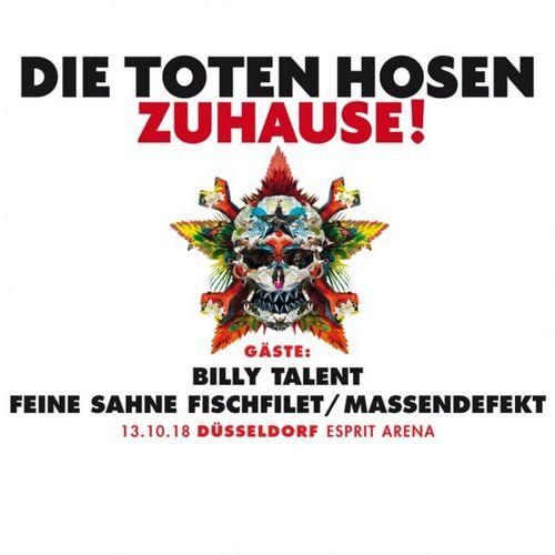 DIE TOTEN HOSEN feiern Tourfinale im Oktober 2018 natürlich in Düsseldorf